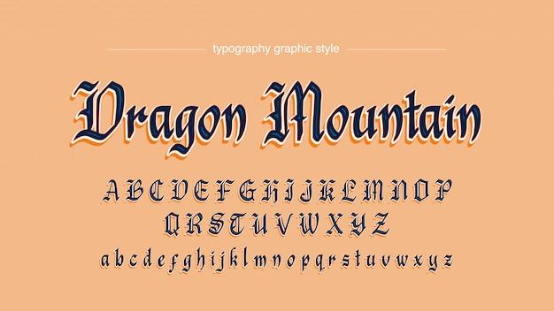 Mittelalterliche art-typografie mit schatten