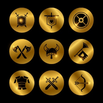 Mittelalterliche ikonen des goldweinlesekriegers mit lichtern