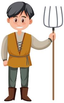 Mittelalterliche männliche historische zeichentrickfiguren