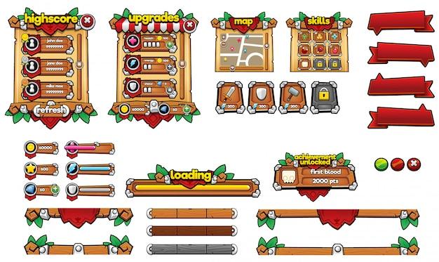 Mittelalterliche spiel-gui