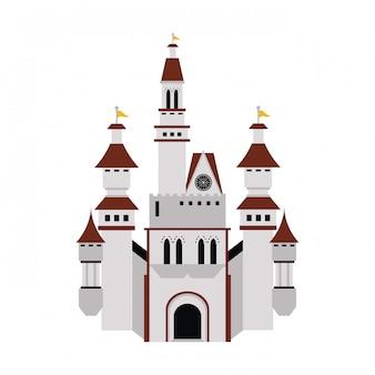 Mittelalterliches schlossgebäude