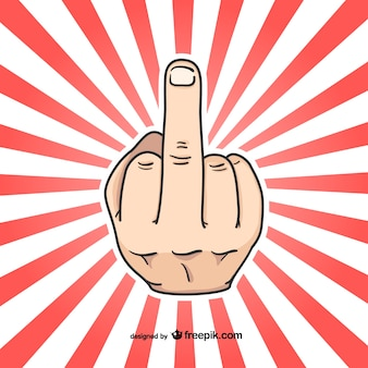 Mittelfinger handzeichen