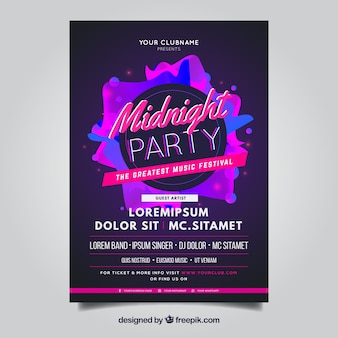 Mitternacht Party Poster