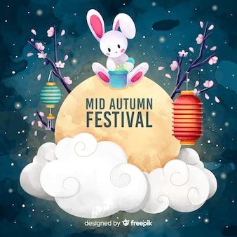 Mittlerer herbstfestivalhintergrund
