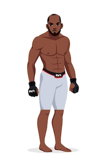 Mixed martial arts mann wrestler tragen sportswear isoliert stehen.