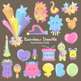 Mizu rainbow objekte doodle