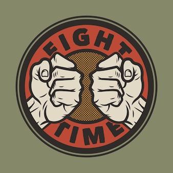 Mma fight club mixed martial arts emblem