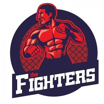 Mma fighter badge design
