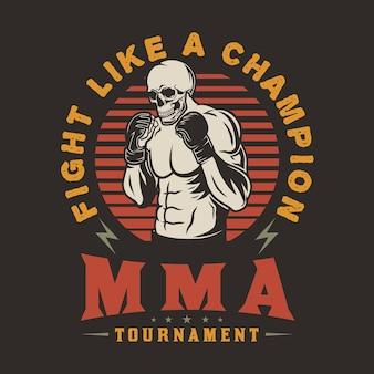Mma fighting club mixed martial arts emblem