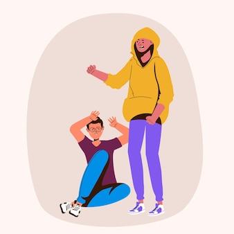 Mobbing-konzept mit menschen