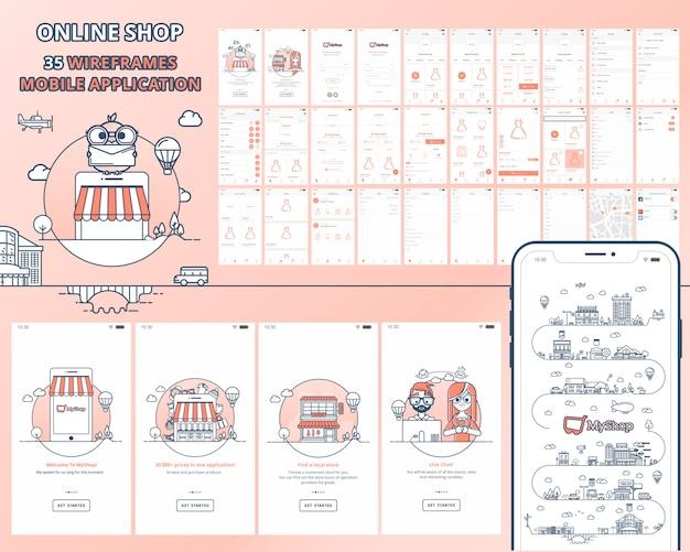 Mobile anwendung für online-shop