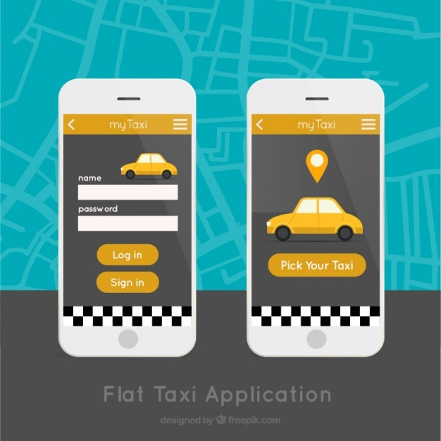 Mobile-anwendung für taxis service