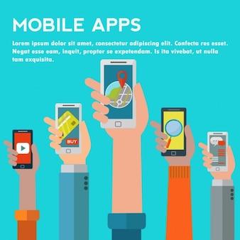 Mobile anwendungen hintergrund-design
