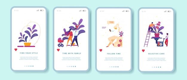 Mobile app-banner-vorlage