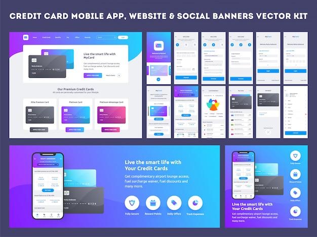 Mobile app-benutzeroberfläche.