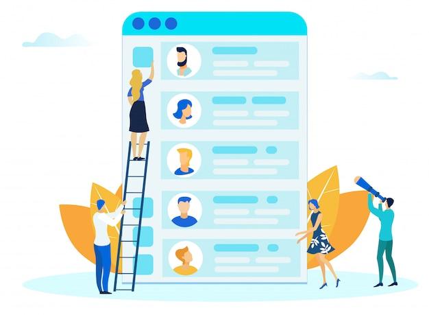 Mobile app design-prozess flach