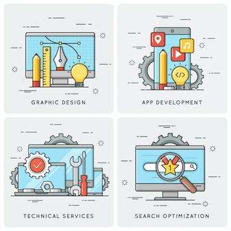 . mobile app-entwicklung. technische dienstleistungen. seo