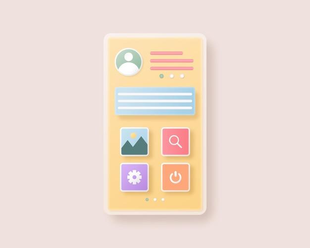 Mobile app-entwicklung und webdesign-konzept