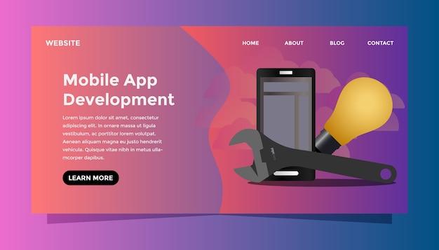 Mobile app entwicklungskonzept.