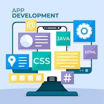Mobile app-entwicklungsvorlage