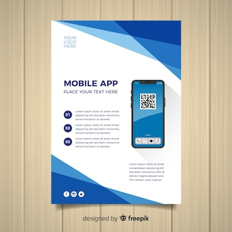Mobile app-flyer-vorlage