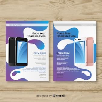 Mobile app-flyer-vorlage