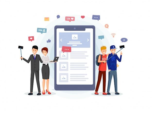 Mobile app für business, freizeit
