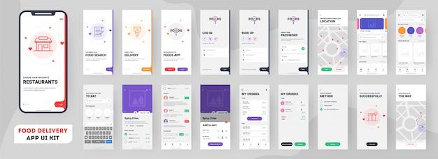 Mobile app für die zustellung von lebensmitteln.
