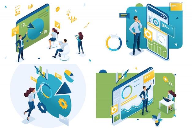 Mobile app, grafiken und diagramme