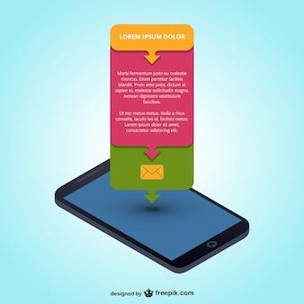Mobile app infografik