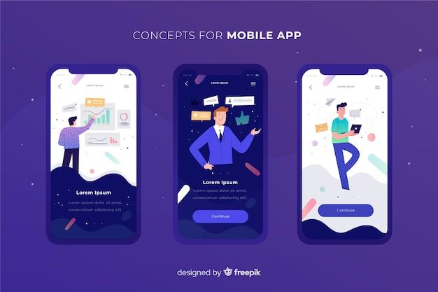 Mobile app-konzept