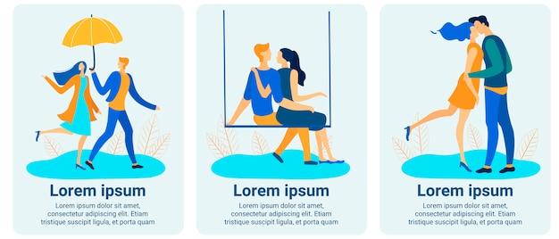 Mobile application stories set bieten online-dating