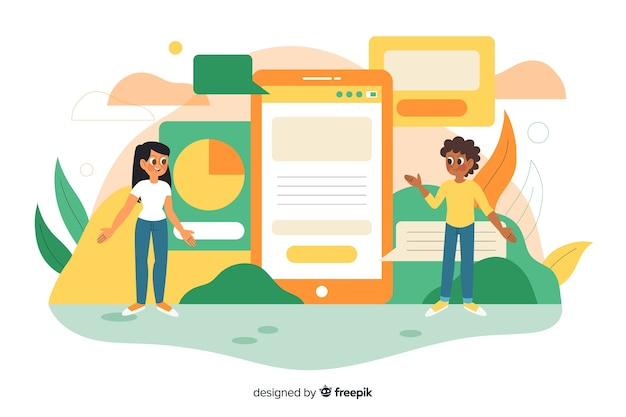 Mobile apps-konzept für landing page