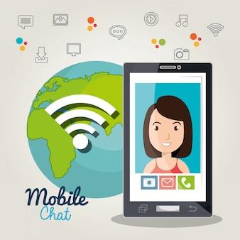 Mobile chat design