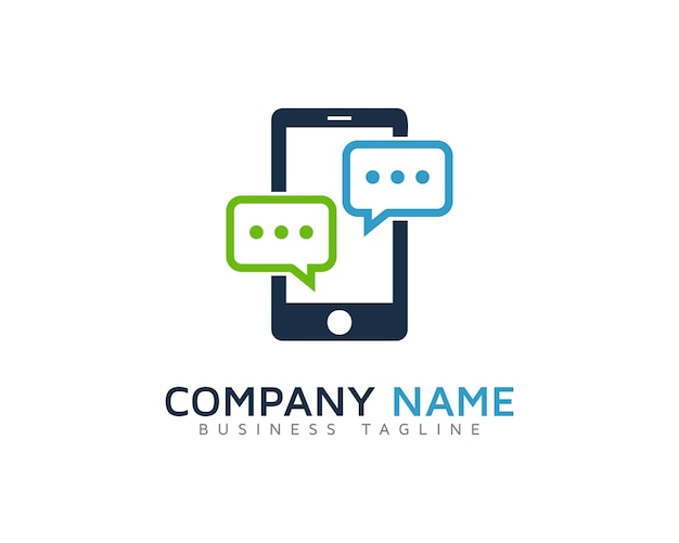 Mobile chat logo design