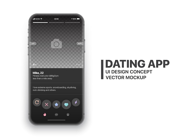 Mobile dating app zunder vektor