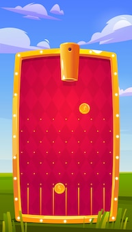 Mobile game app, anwendungsoberfläche