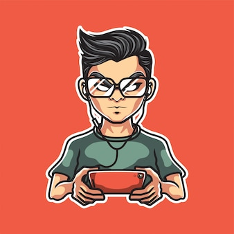 Mobile gaming maskottchen logo