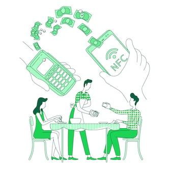 Mobile geldbörse, kontaktloses bezahlen