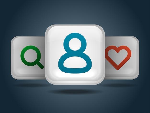 Mobile icons set