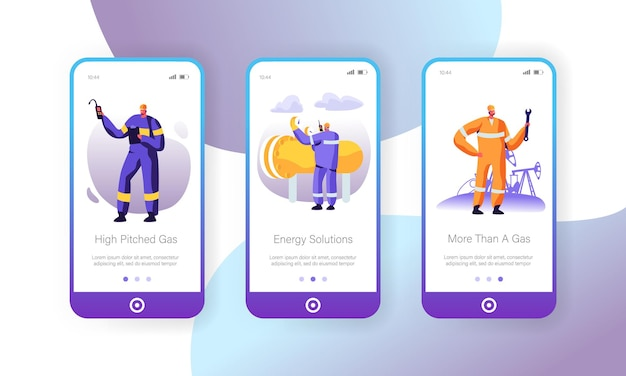 Mobile industrie seite der gasindustrie onboard screen set