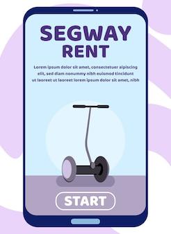 Mobile landing page für segway rent advertisement