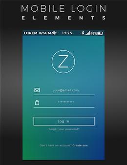 Mobile login vorlage
