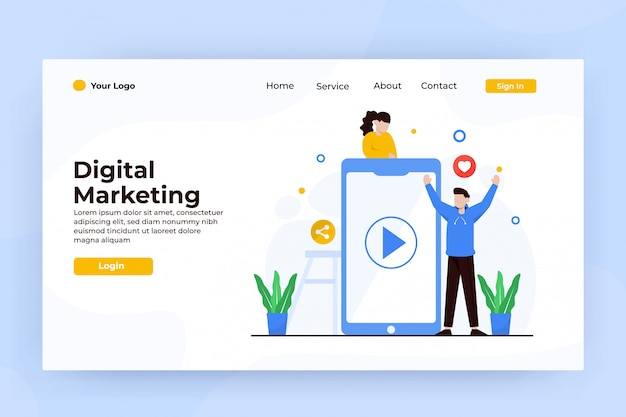 Mobile marketing landing page