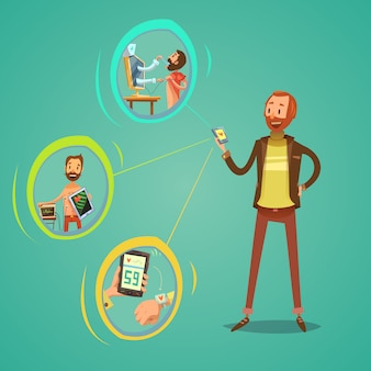 Mobile medizin-illustration