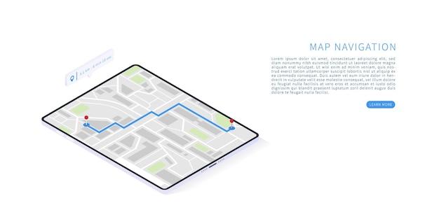 Mobile navigationsanwendung in 3d-rendering
