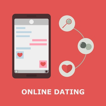 Mobile online-dating-anwendung.