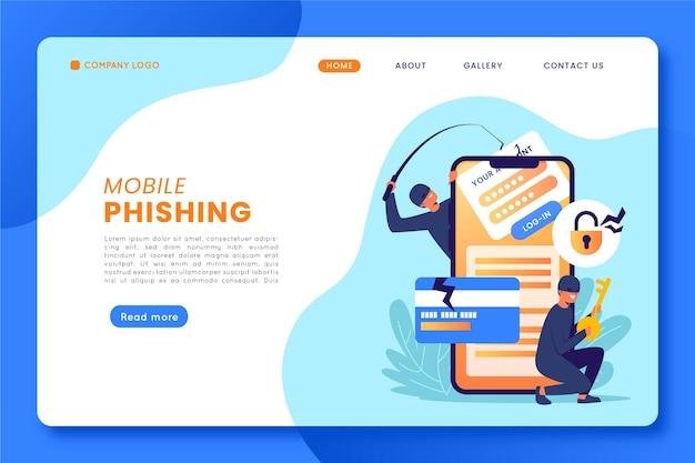Mobile phishing landing page konzept