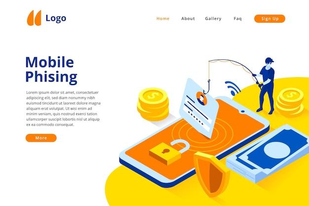 Mobile phishing landing page vorlage