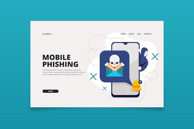 Mobile phishing-landingpage